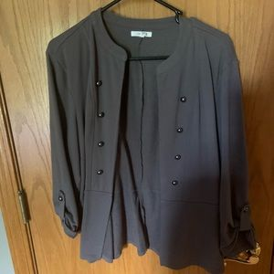 Maurices XXL comfy cotton blazer Taupe